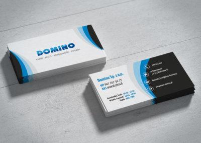 Wizytówki Domino