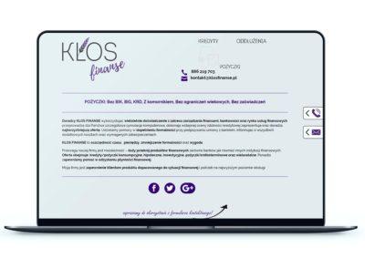 Realizacja - Strona klosfinanse.pl